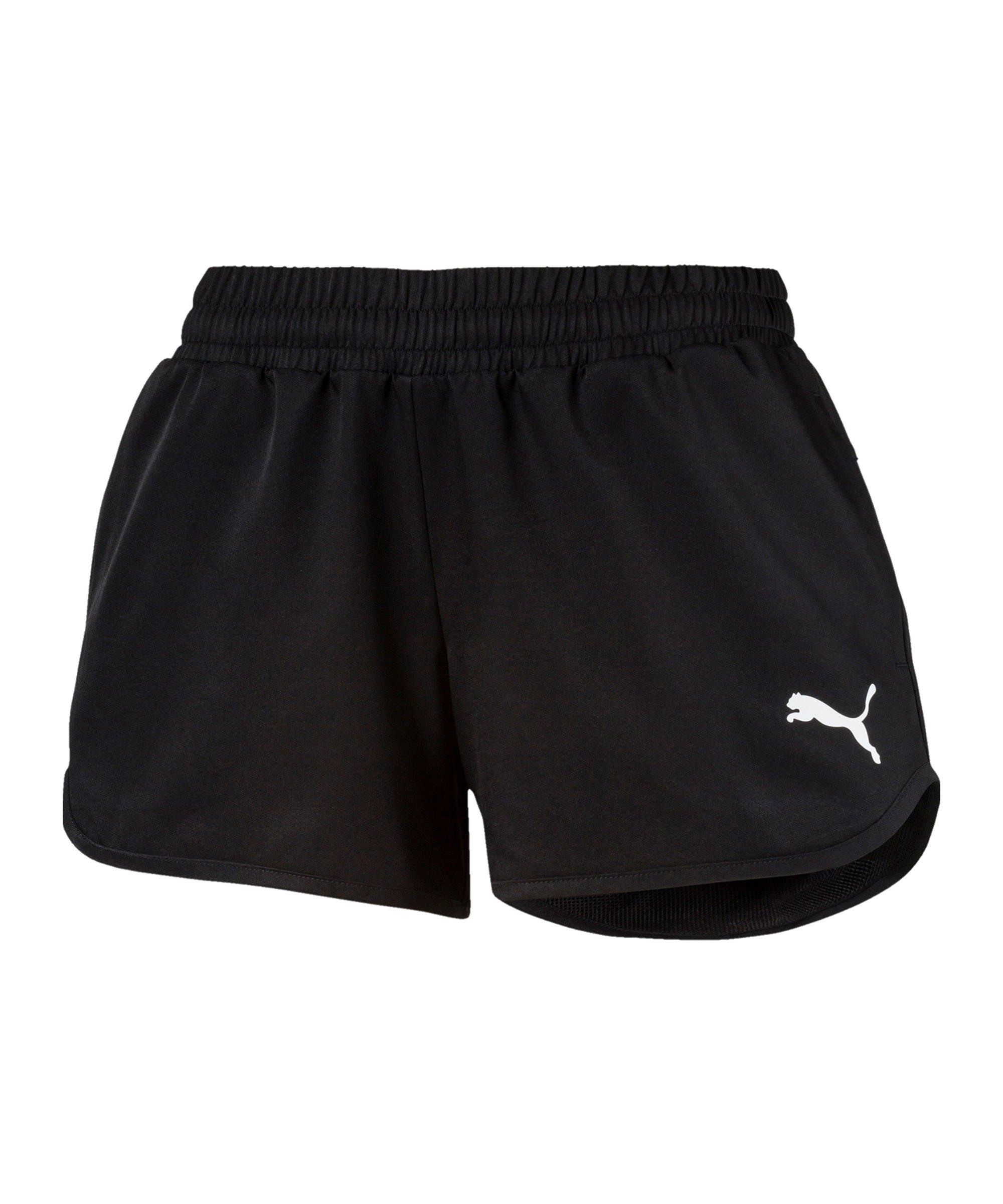 PUMA Active Woven Shorts Damen Schwarz F01 - schwarz