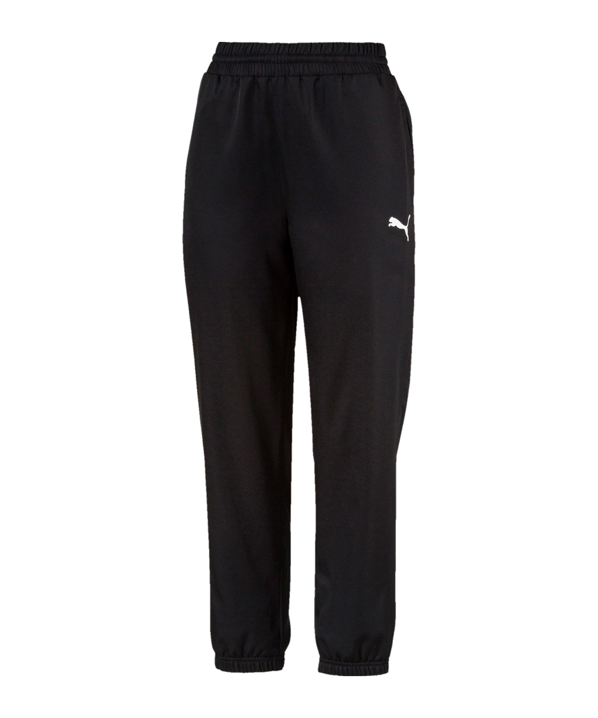 PUMA Active Woven Jogginghose Damen Schwarz F01 - schwarz
