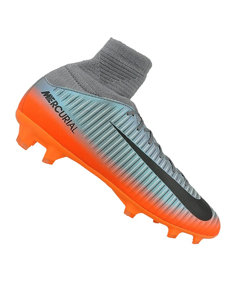 Nike FG Jr Mercurial Superfly V CR7 Kinder Grau F001 - grau