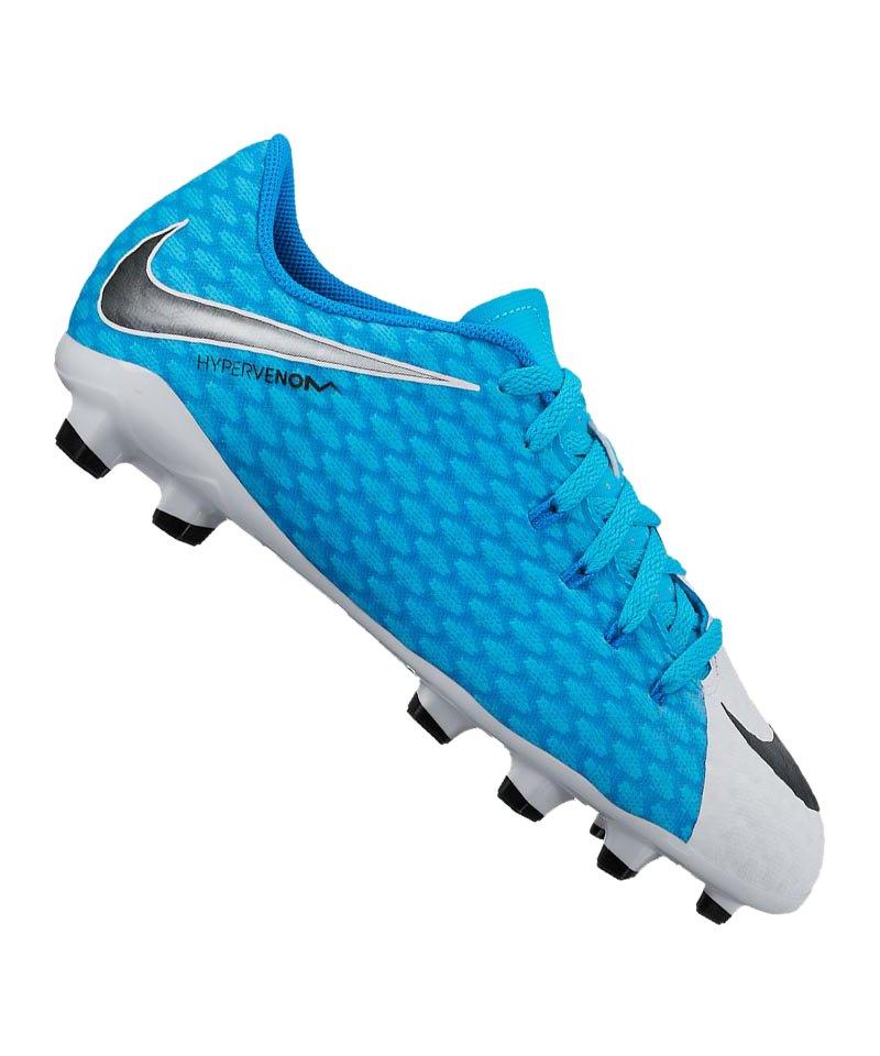 Nike FG Jr Hypervenom Phelon III Kinder F104 - weiss