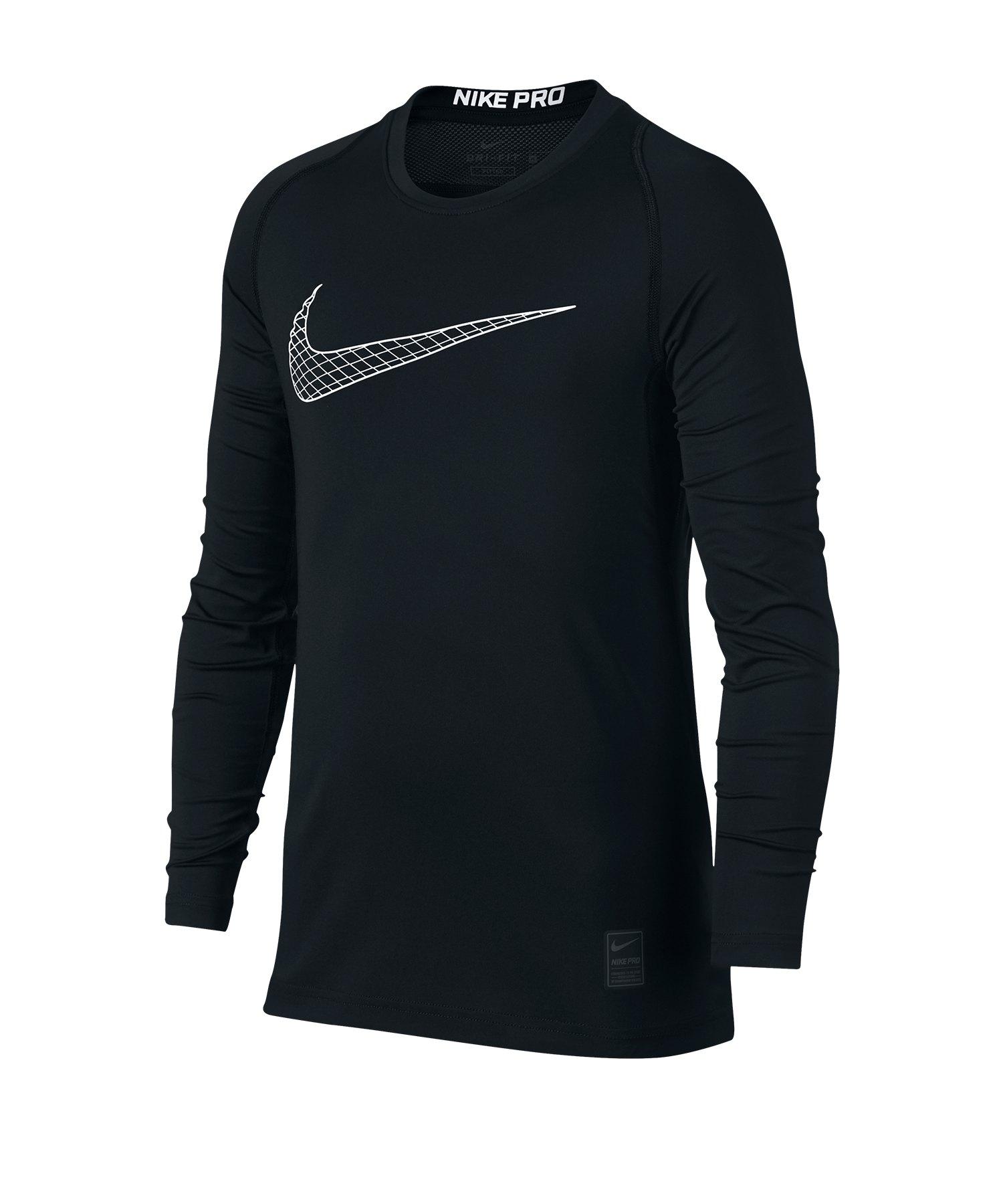 Nike Pro Training Top Kids Schwarz Weiss F011 - schwarz