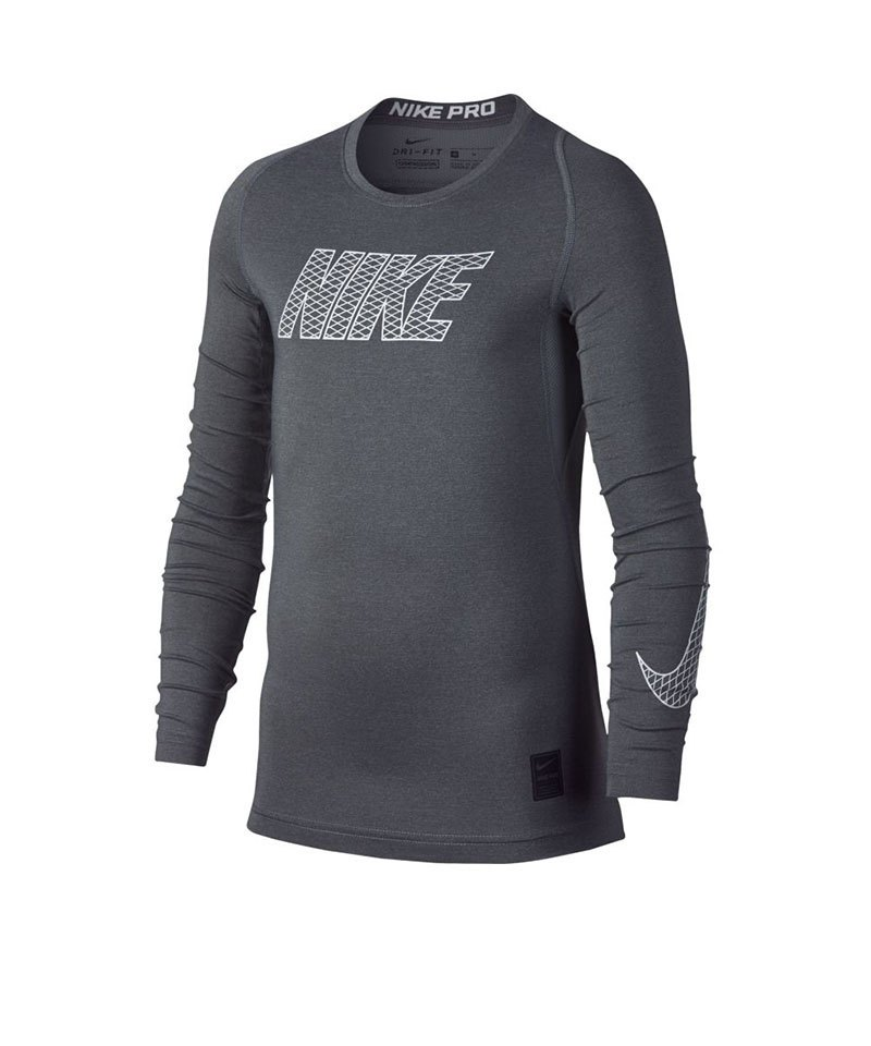Nike Pro Compression Longsleeve Shirt Kids F065 - grau