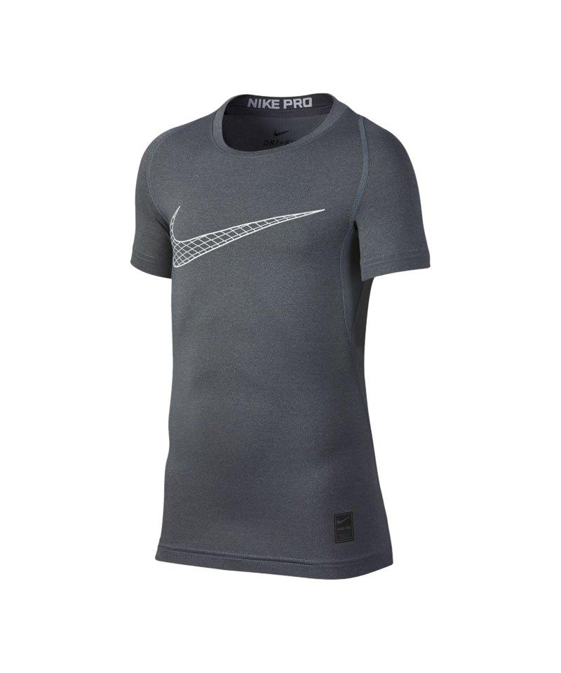 Nike Pro Compression T-Shirt Kids Grau F065 - grau