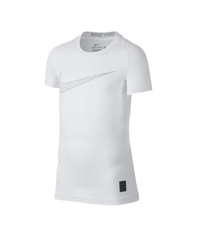 Nike Pro Compression T-Shirt Kids Weiss F100 - weiss
