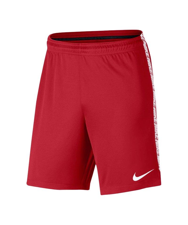 Nike Dry Squad Short Hose kurz Rot Weiss F657 - rot