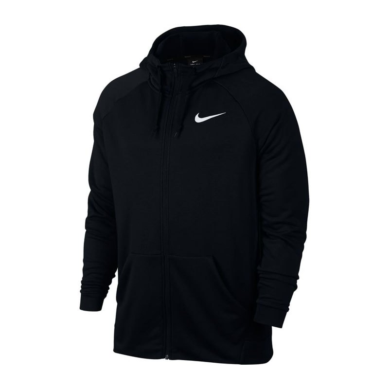 Nike Kapuzensweatjacke Dry Hoody Schwarz F010 - schwarz