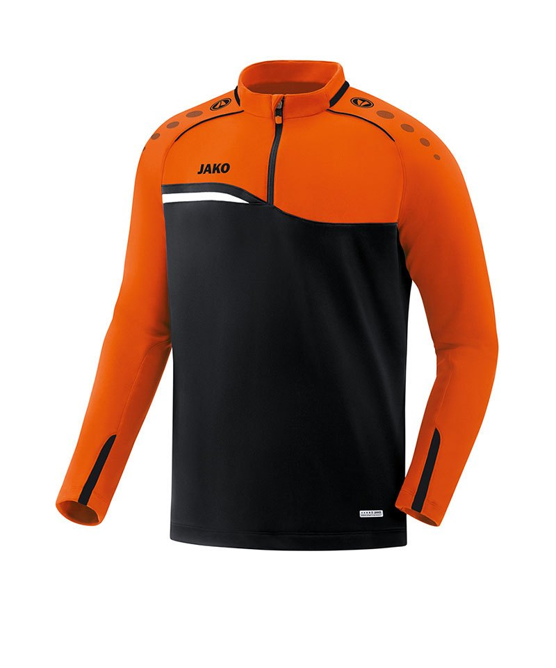 Jako Competition 2.0 Ziptop Schwarz Orange F19 - schwarz