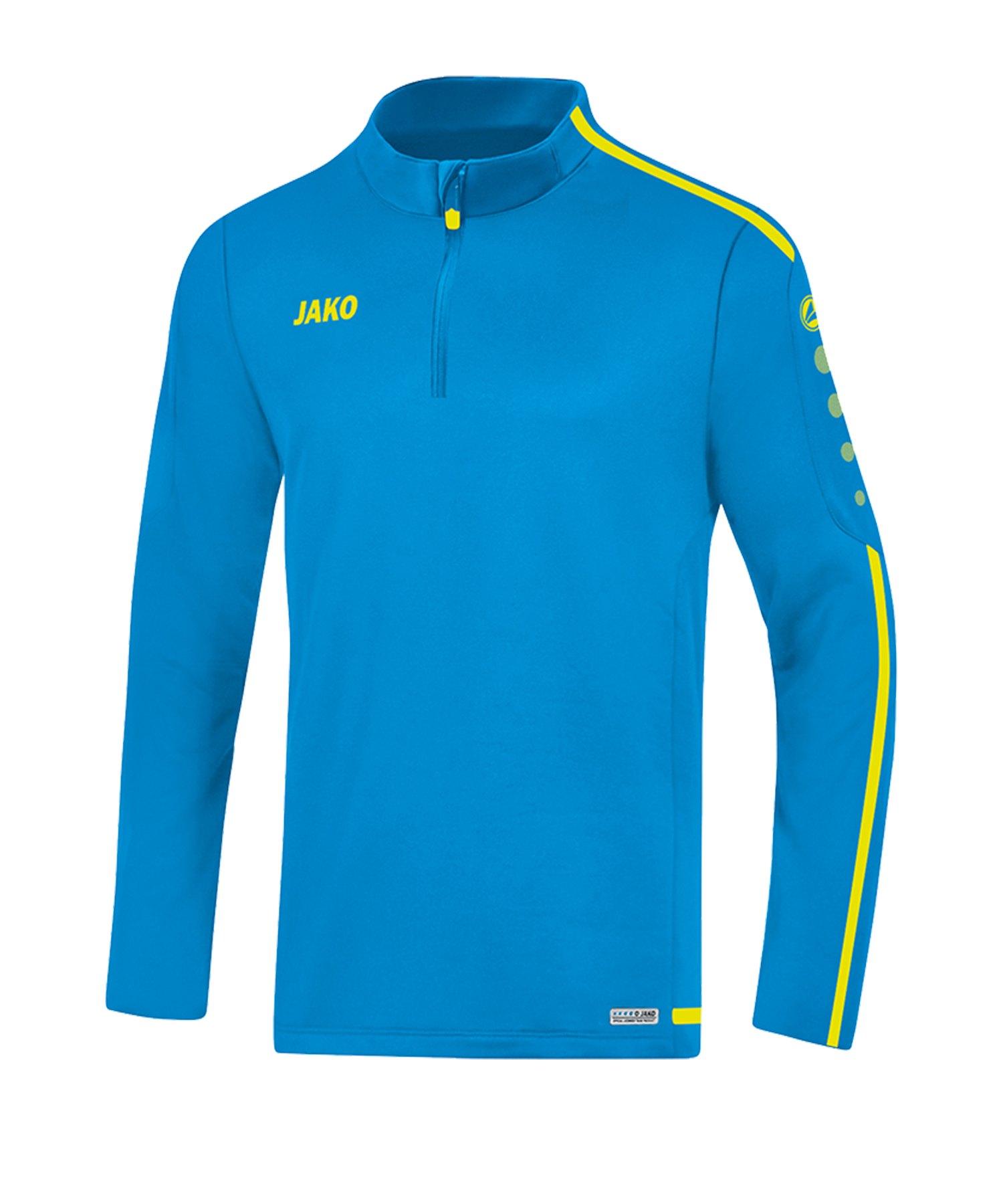 Jako Striker 2.0 Ziptop Blau Gelb F89 - Blau