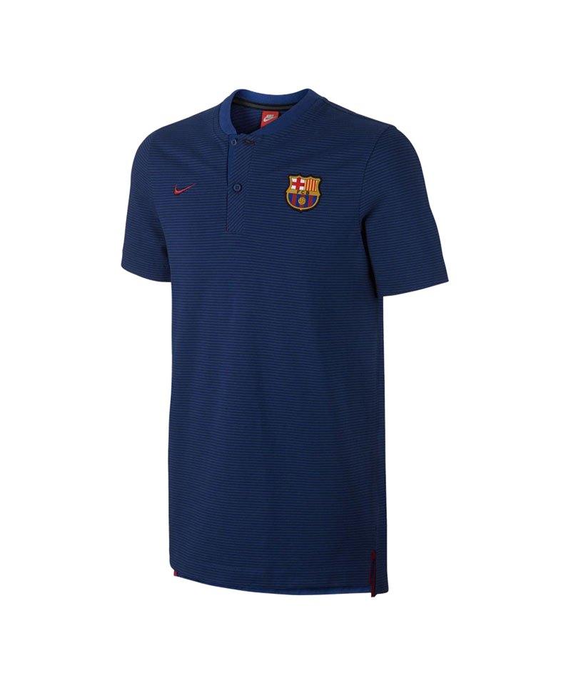 Nike Authentic Poloshirt FC Barcelona Blau F455 - blau