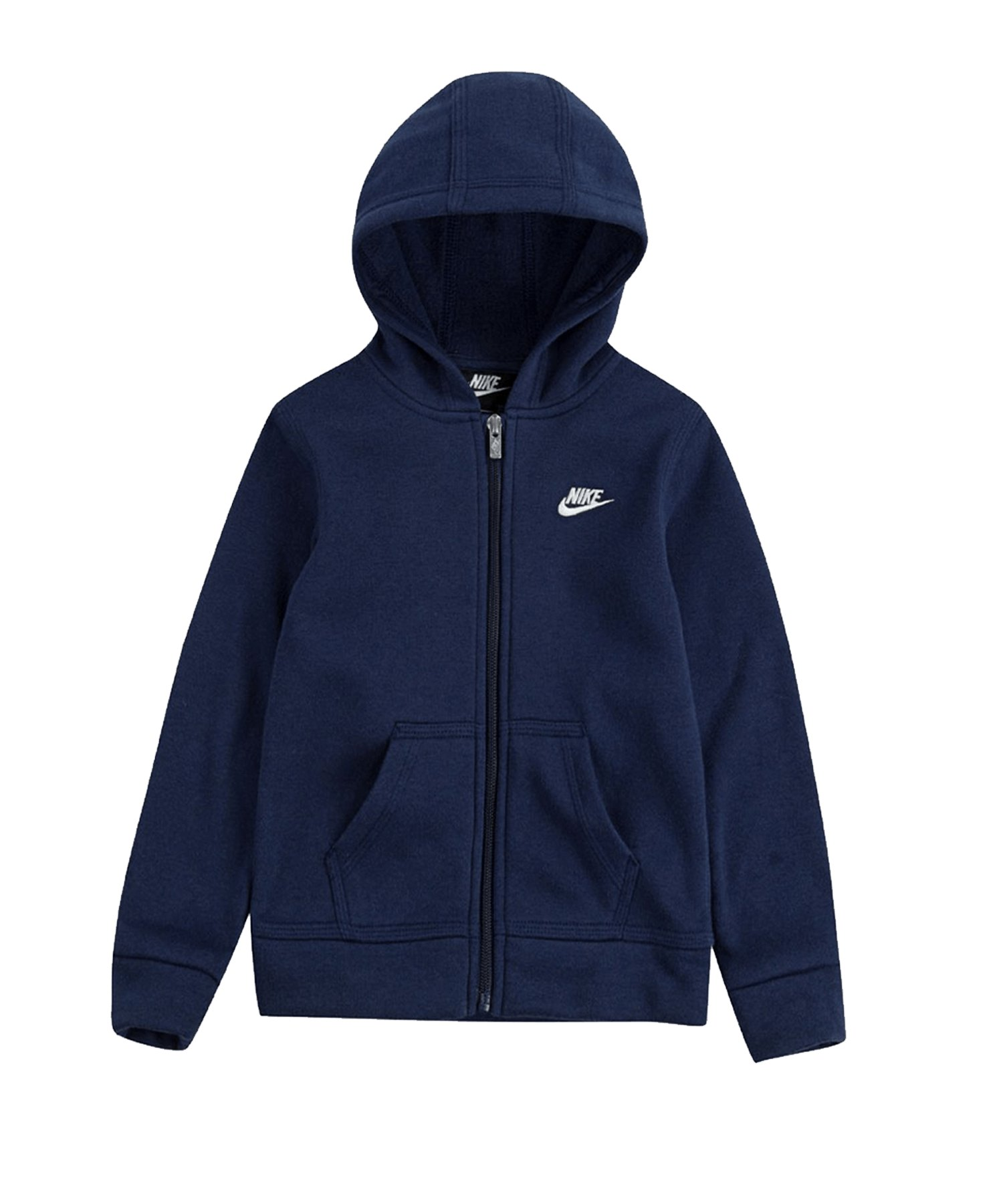 Nike Club Fleece Kapuzenjacke Kids Blau FU90 - blau