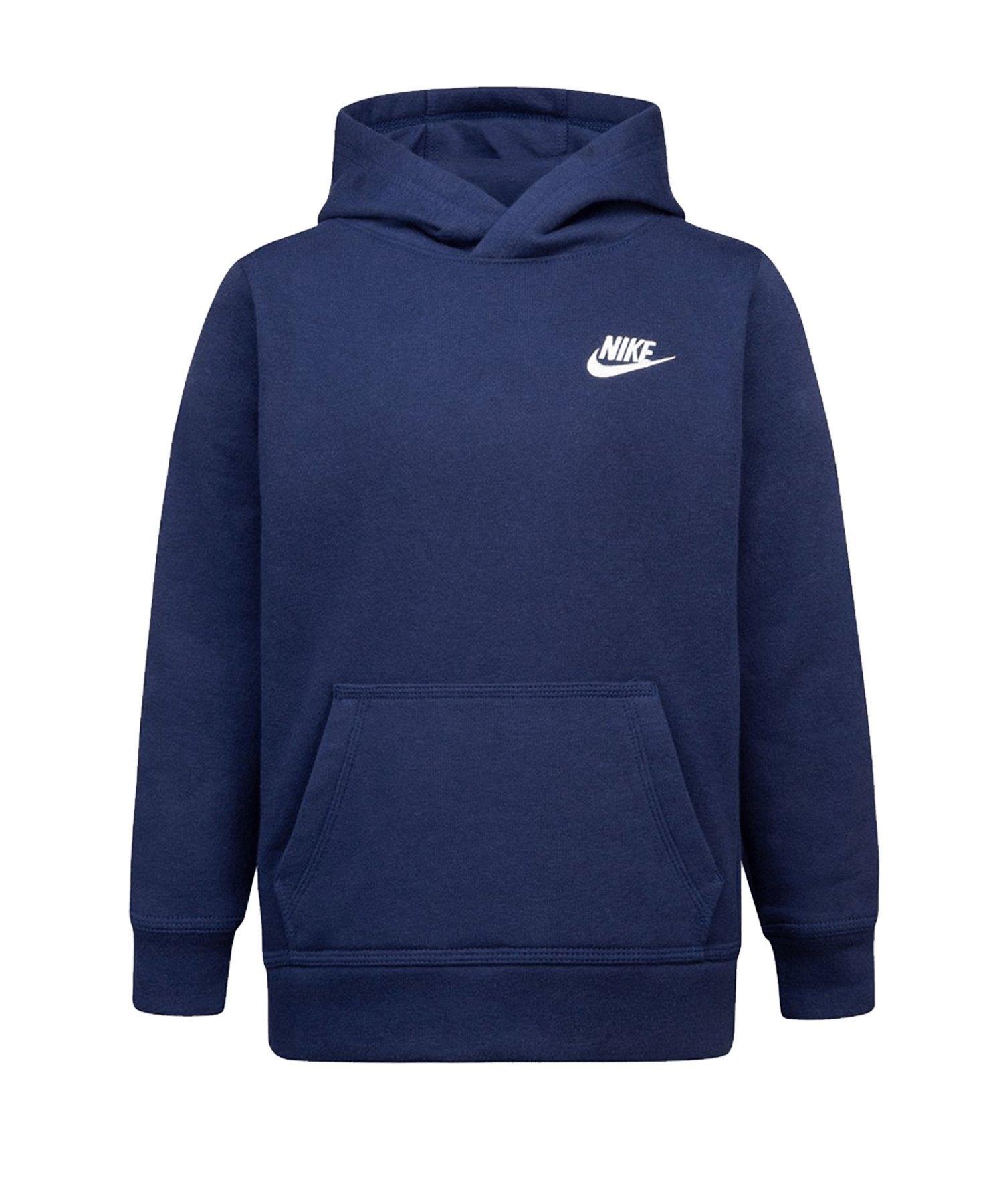 Nike Club Fleece Hoody Kids Blau FU90 - blau