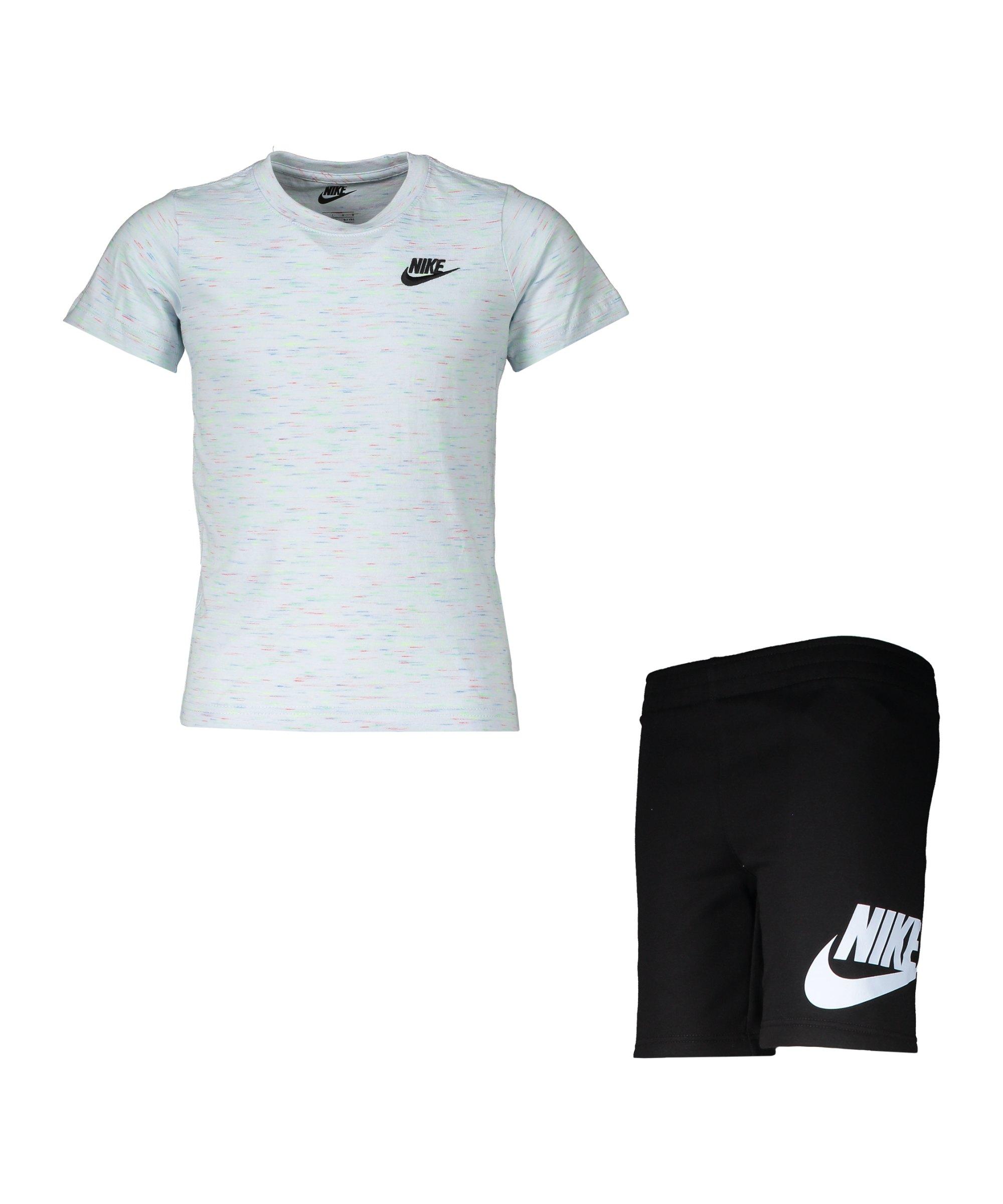 Nike Short Set Kids Schwarz F023 - schwarz
