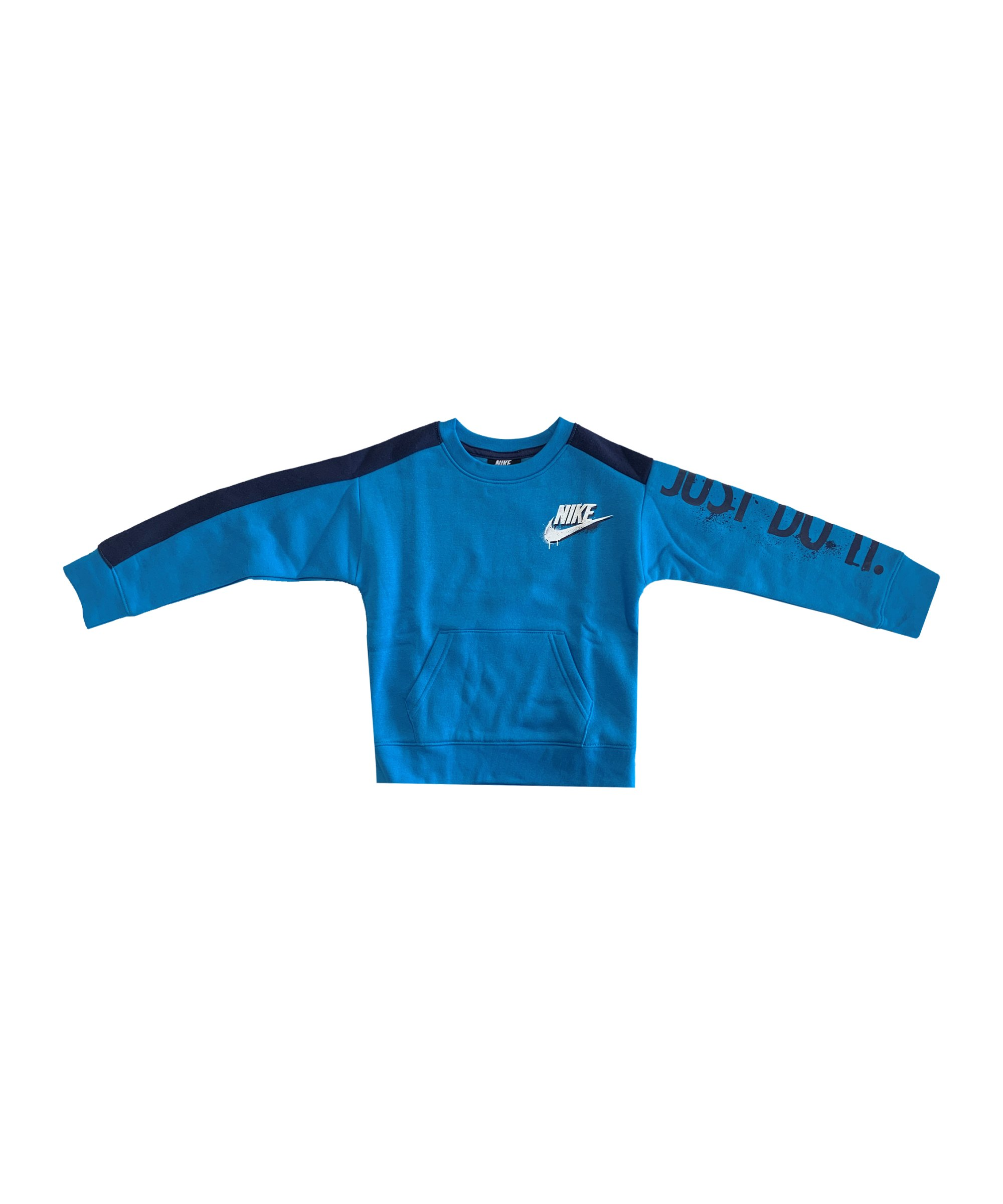 Nike Tag Crew Sweatshirt Kids Blau FU3H - blau