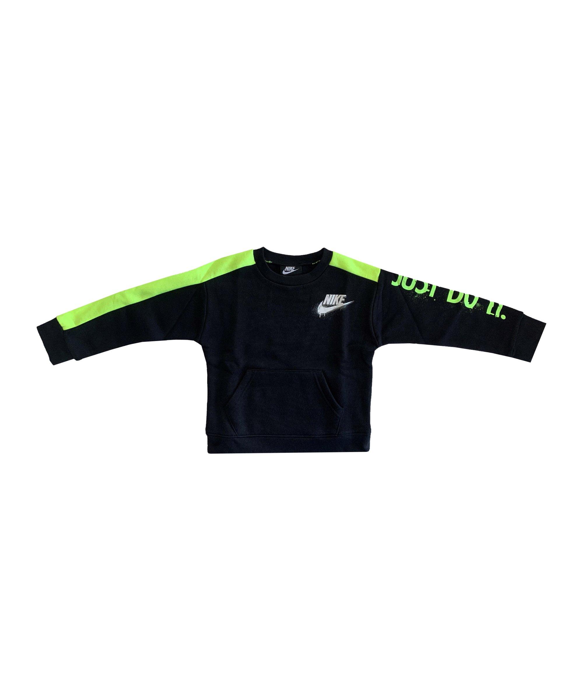 Nike Tag Crew Sweatshirt Kids Schwarz F023 - schwarz