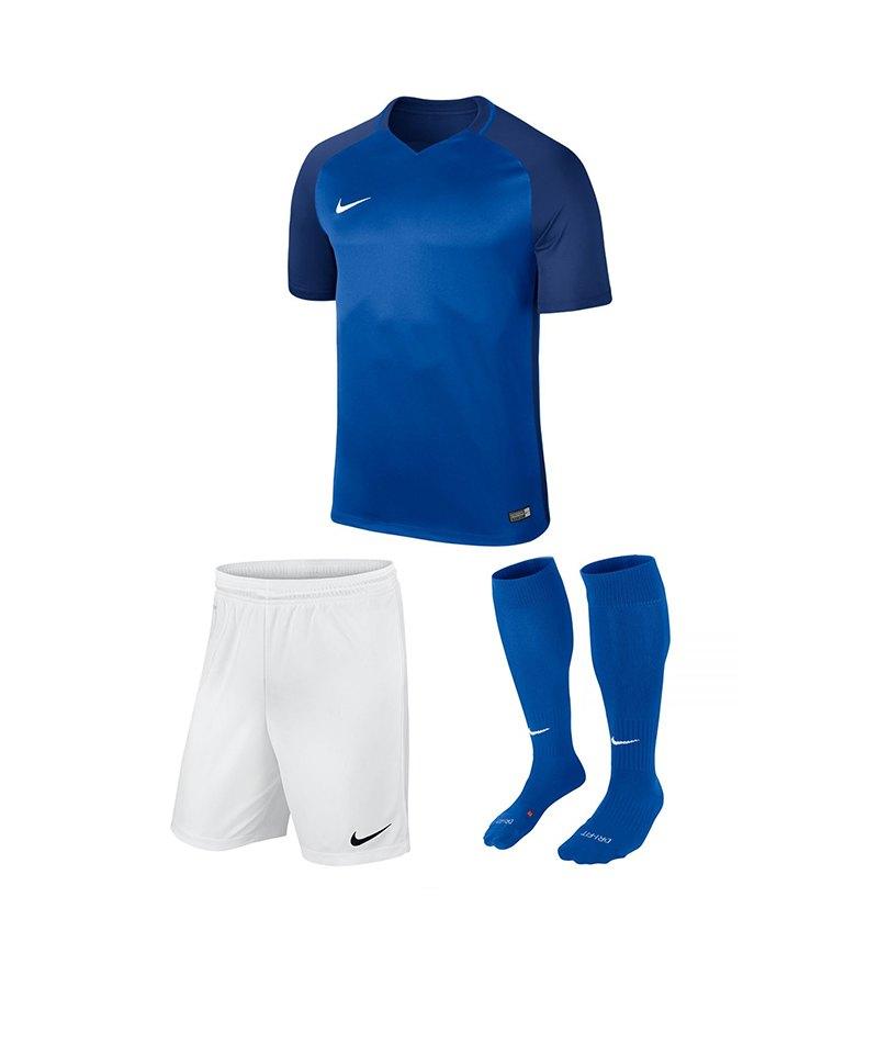 Nike Trikotset Trophy III Kinder Blau Weiss F463 - blau