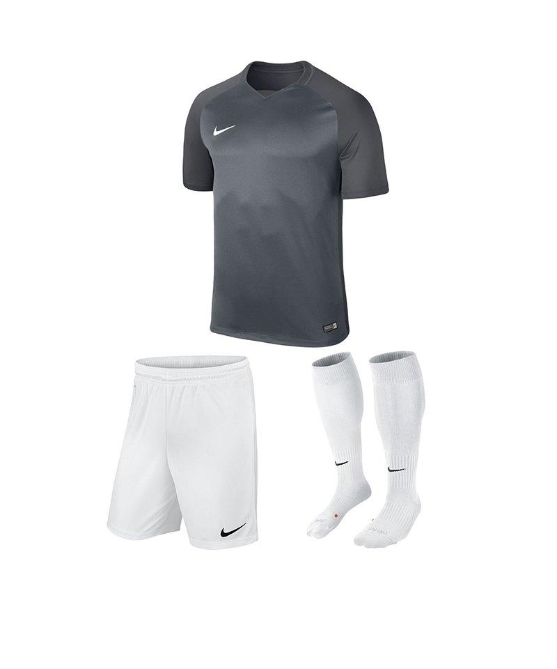 Nike Trikotset Trophy III Kinder Grau Weiss F065 - grau