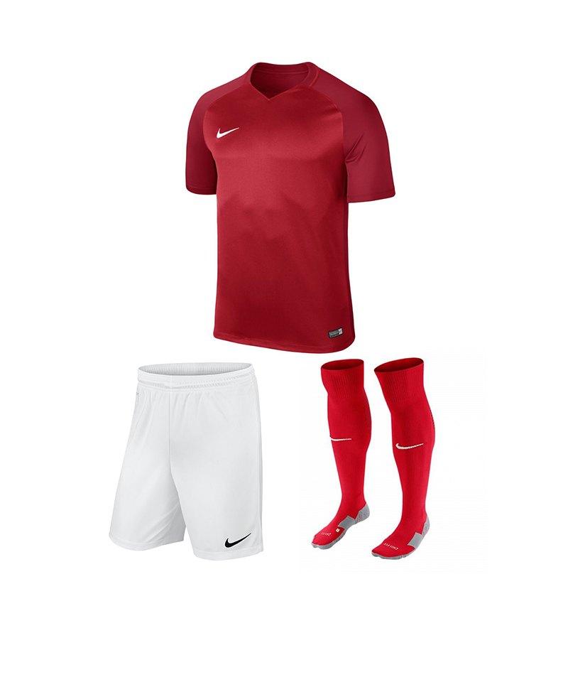 Nike Trikotset Trophy III Kinder Rot Weiss F657 - rot