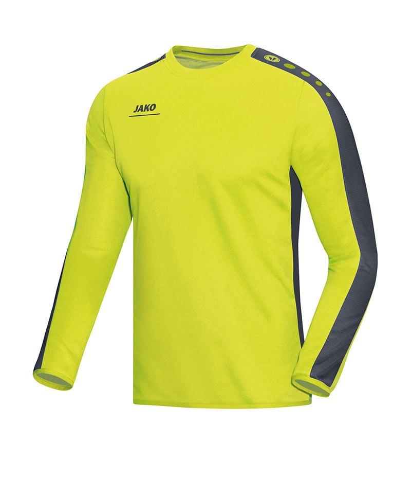 Jako Sweatshirt Striker Kinder Gelb Grau F23 - gelb