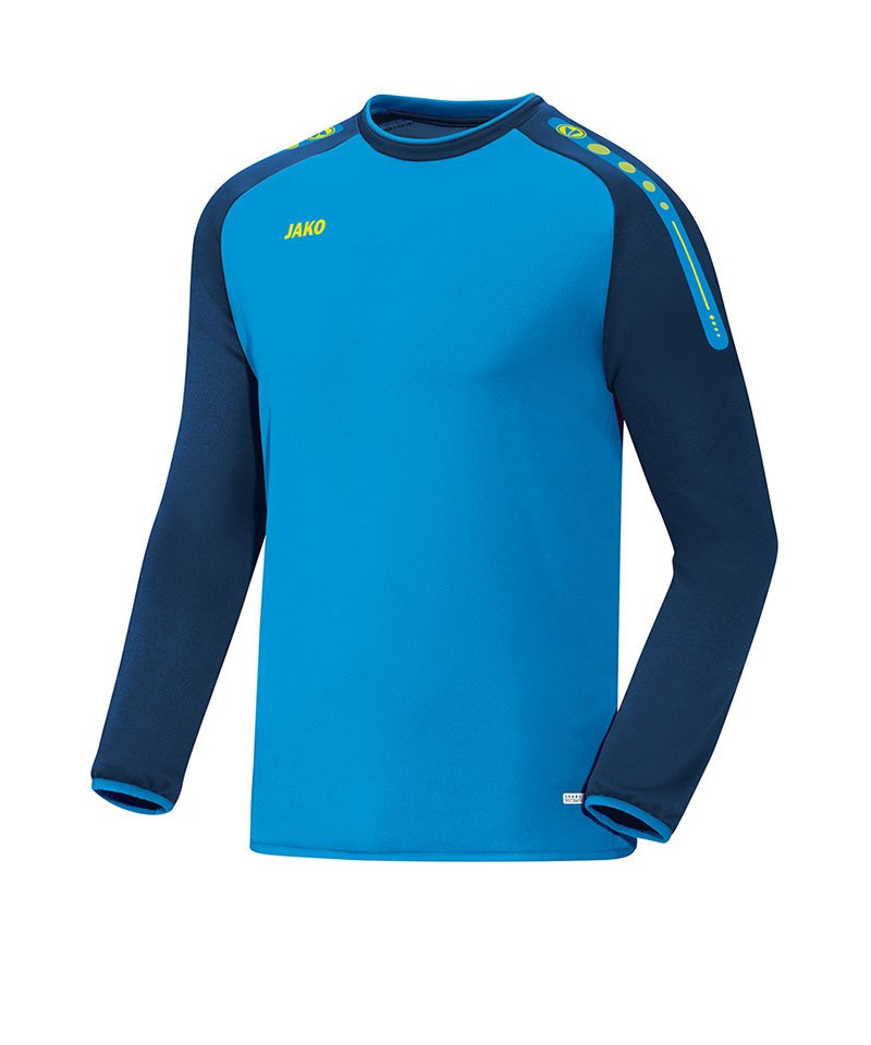 Jako Sweatshirt Champ Blau Gelb F89 - blau