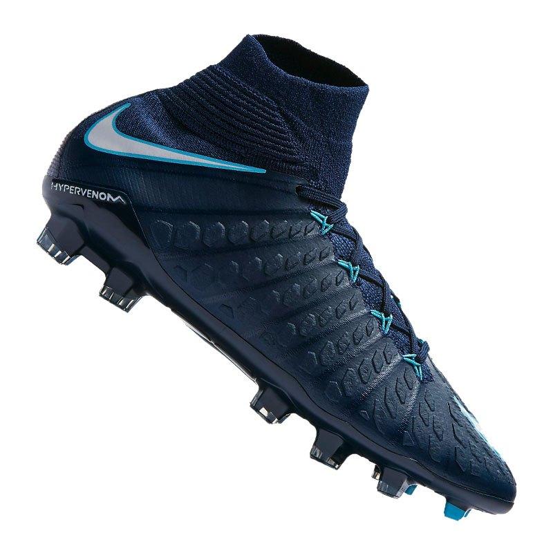 Nike Jr Hypervenom Phantom III DF FG Kids F414 - blau