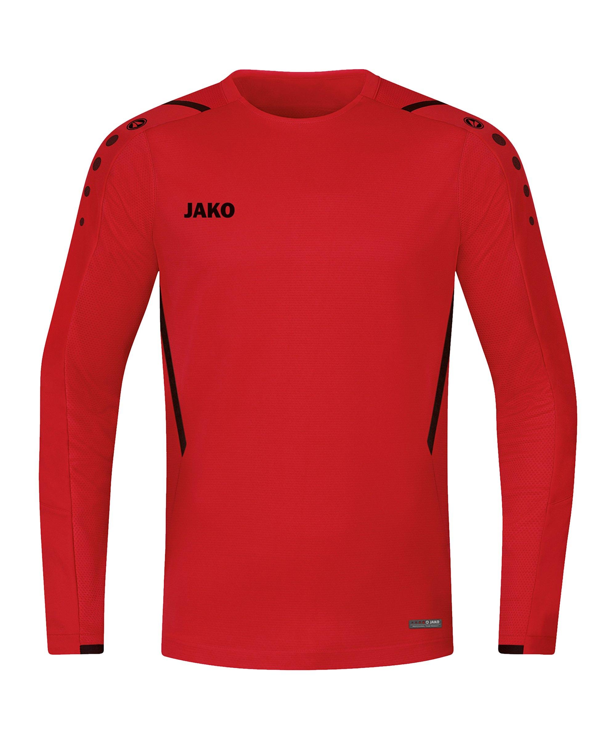 JAKO Challenge Sweatshirt Rot Schwarz F101 - rot