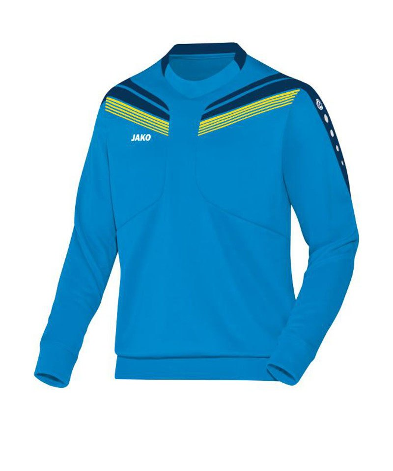 Jako Sweatshirt Pro Sweat Kinder Blau Gelb F89 - blau