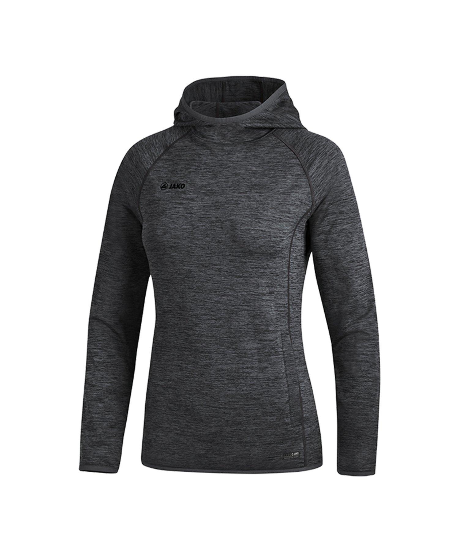 Jako Active Kapuzensweatshirt Damen Schwarz F08 - Schwarz