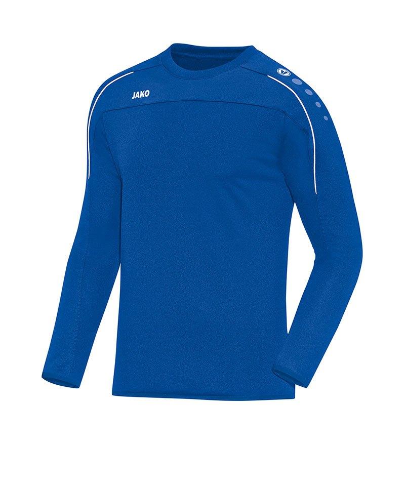 Jako Sweatshirt Classico Blau Weiss F04 - blau