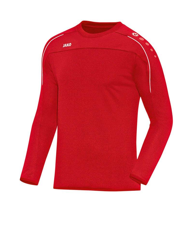 Jako Sweatshirt Classico Kinder Rot Weiss F01 - rot