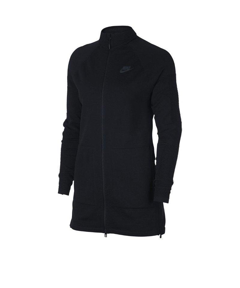 Nike Tech Knit Sweatjacke Damen Schwarz F010 - schwarz