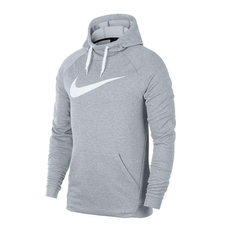 Nike Dry Swoosh Kapuzensweatshirt Grau F051 -