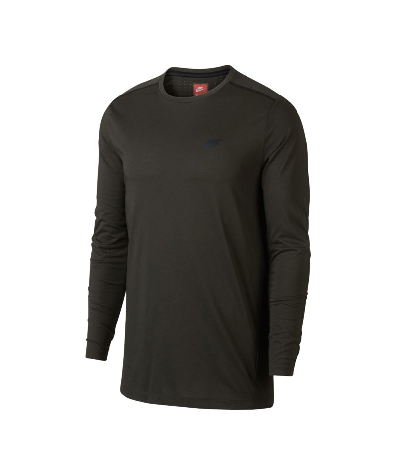Nike Bonded Top Sweatshirt Khaki F355 - khaki