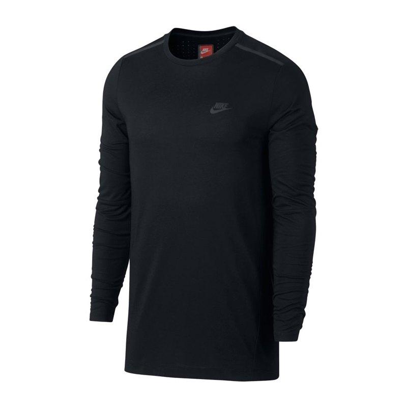 Nike Bonded Top Sweatshirt Schwarz F010 - schwarz
