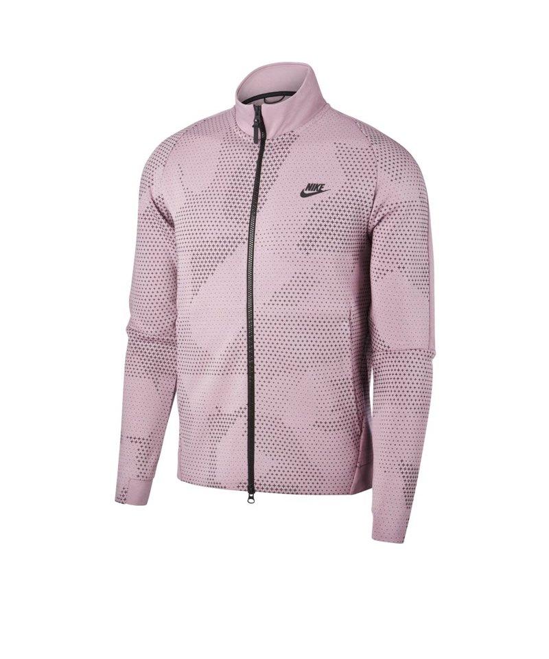 Nike Tech Fleece Jacke Rot F694 - rot