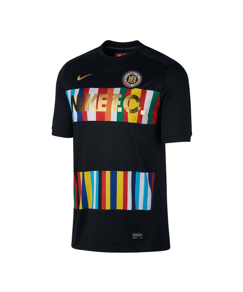 Nike F.C. T-Shirt Schwarz Blau F013 - schwarz
