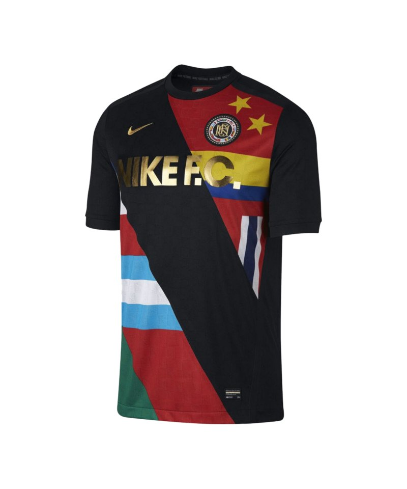 Nike F.C. T-Shirt Schwarz Weiss F012 - schwarz