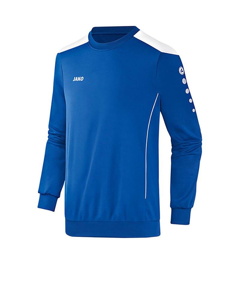 Jako Sweatshirt Cup F04 Blau Weiss - blau