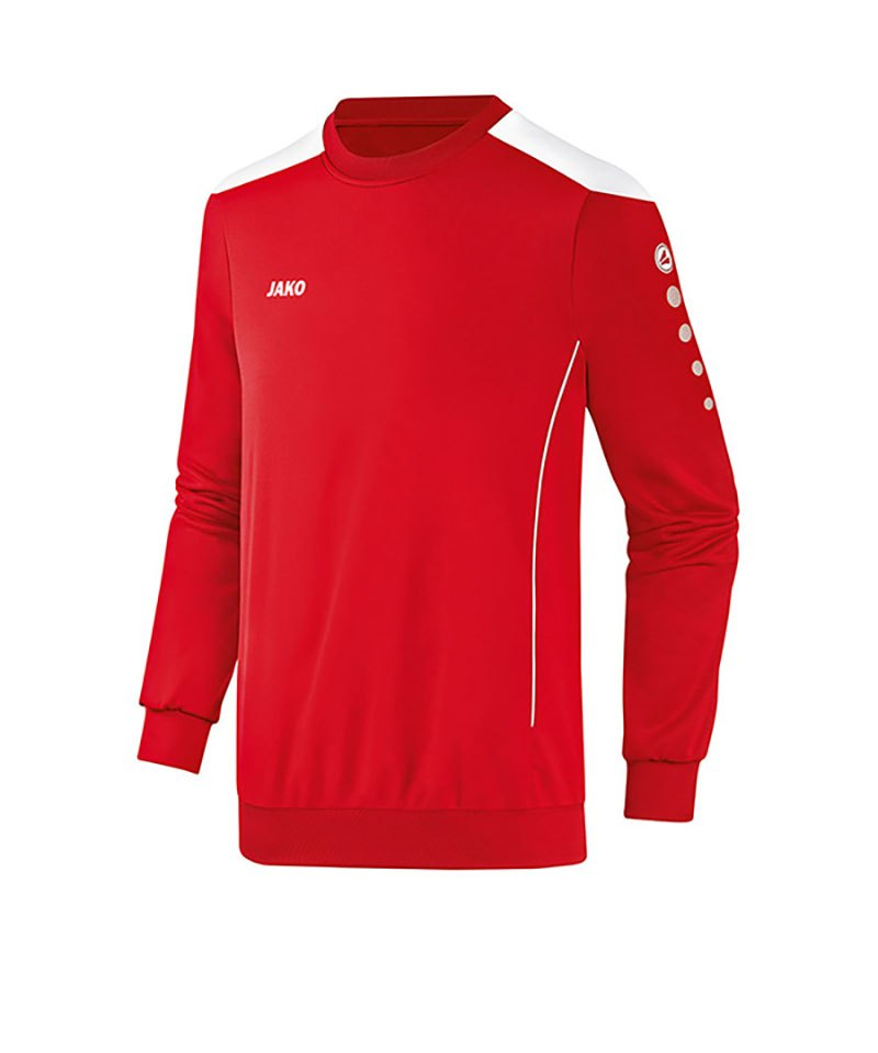 Jako Sweatshirt Cup Kinder F01 Rot Weiss - rot