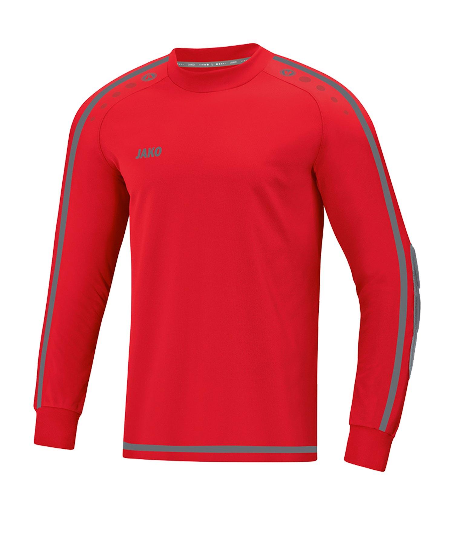 Jako Striker 2.0 Torwarttrikot Rot Grau F01 - Rot