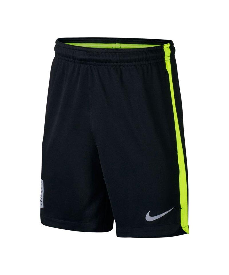 Nike Neymar Dry Squad Short Kids Schwarz Gelb F010 - schwarz