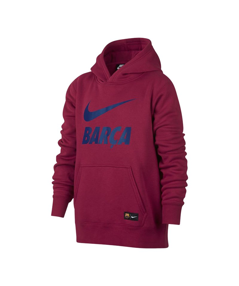 Nike FC Barcelona Crest Kapuzensweatshirt Rot F620 - rot