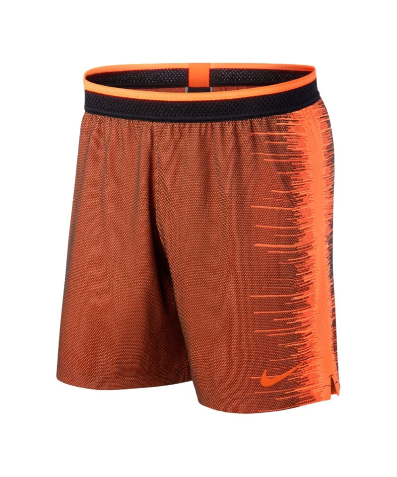 Nike Vapor Knit Strike Short Schwarz Orange F011 - schwarz