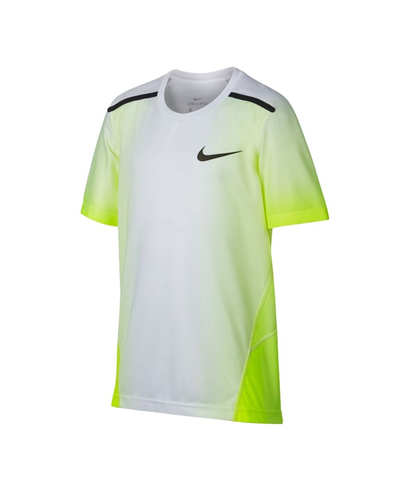 Nike Breath Top T-Shirt Training Kids Weiss F702 - weiss