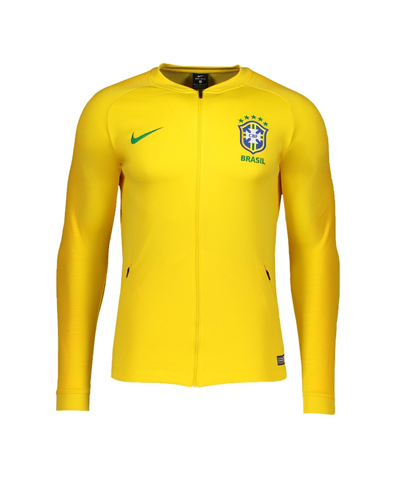 Nike Brasilien Anthem Football Jacket Jacke F749 - gold