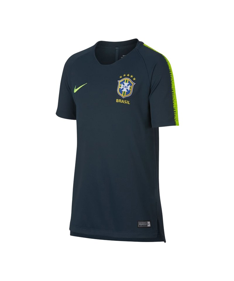 Nike Brasilien Breathe Squad T-Shirt Kids F454 - blau