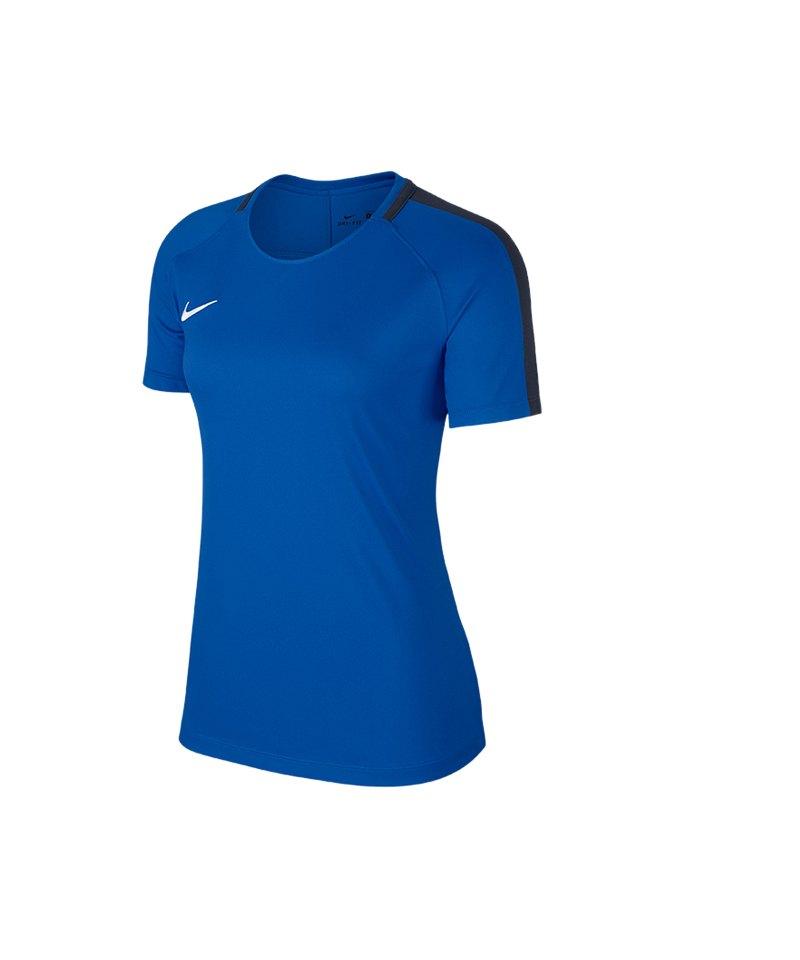 Nike Academy 18 Football T-Shirt Damen F463 - blau