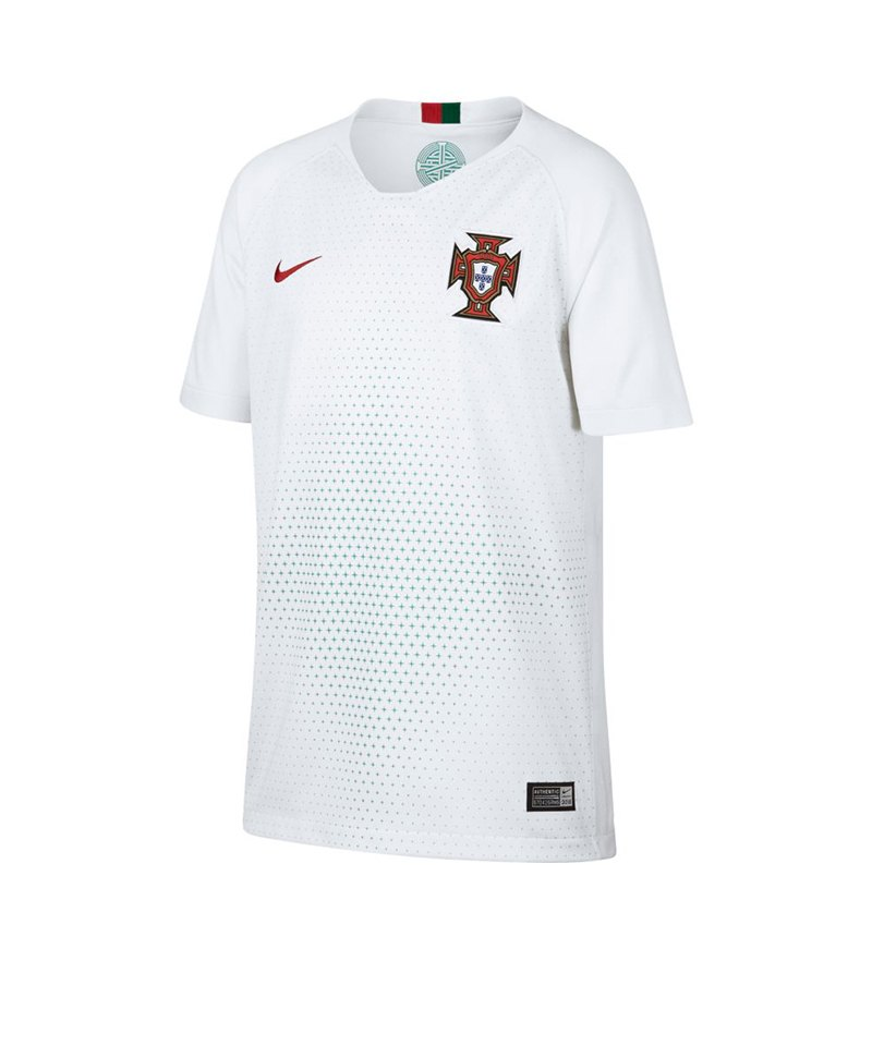 Nike Portugal Trikot Away Kids WM 2018 Weiss F100 - weiss