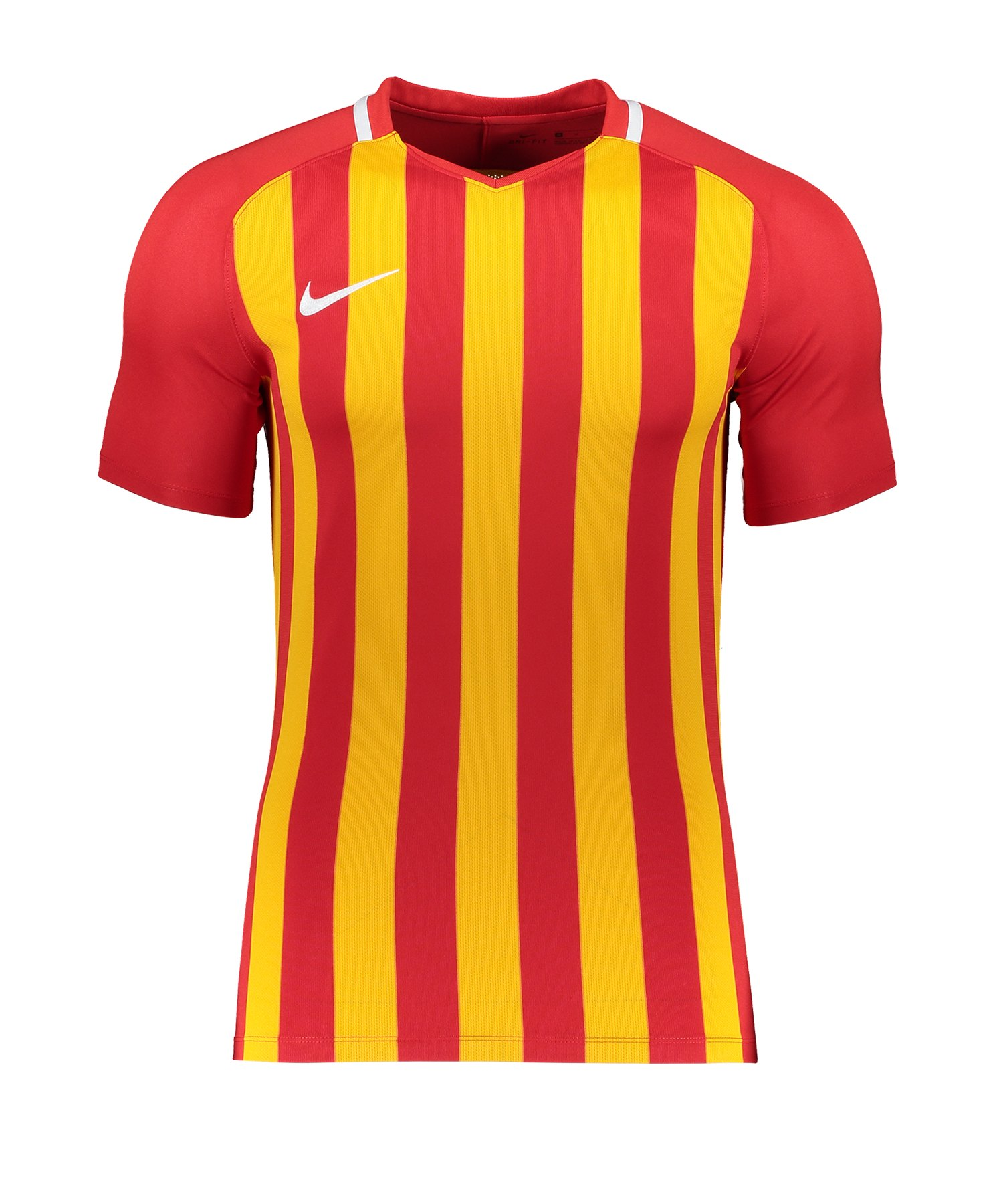 Nike Striped Division III Trikot Rot Gelb F659 - rot