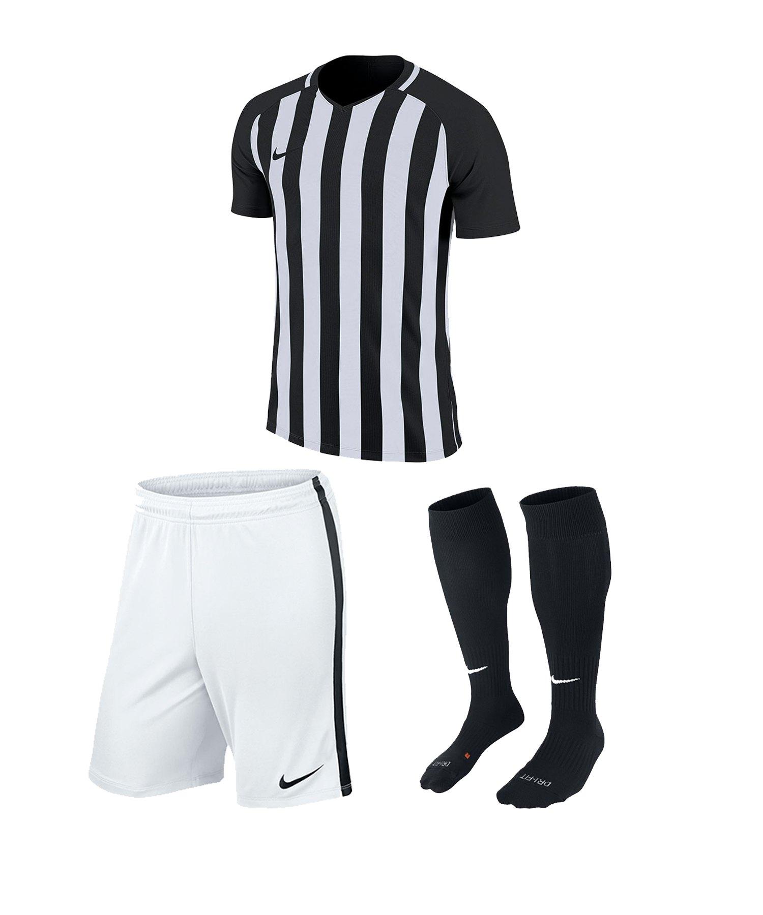 Nike Striped Division III Trikotset kurz Kids F010 - schwarz