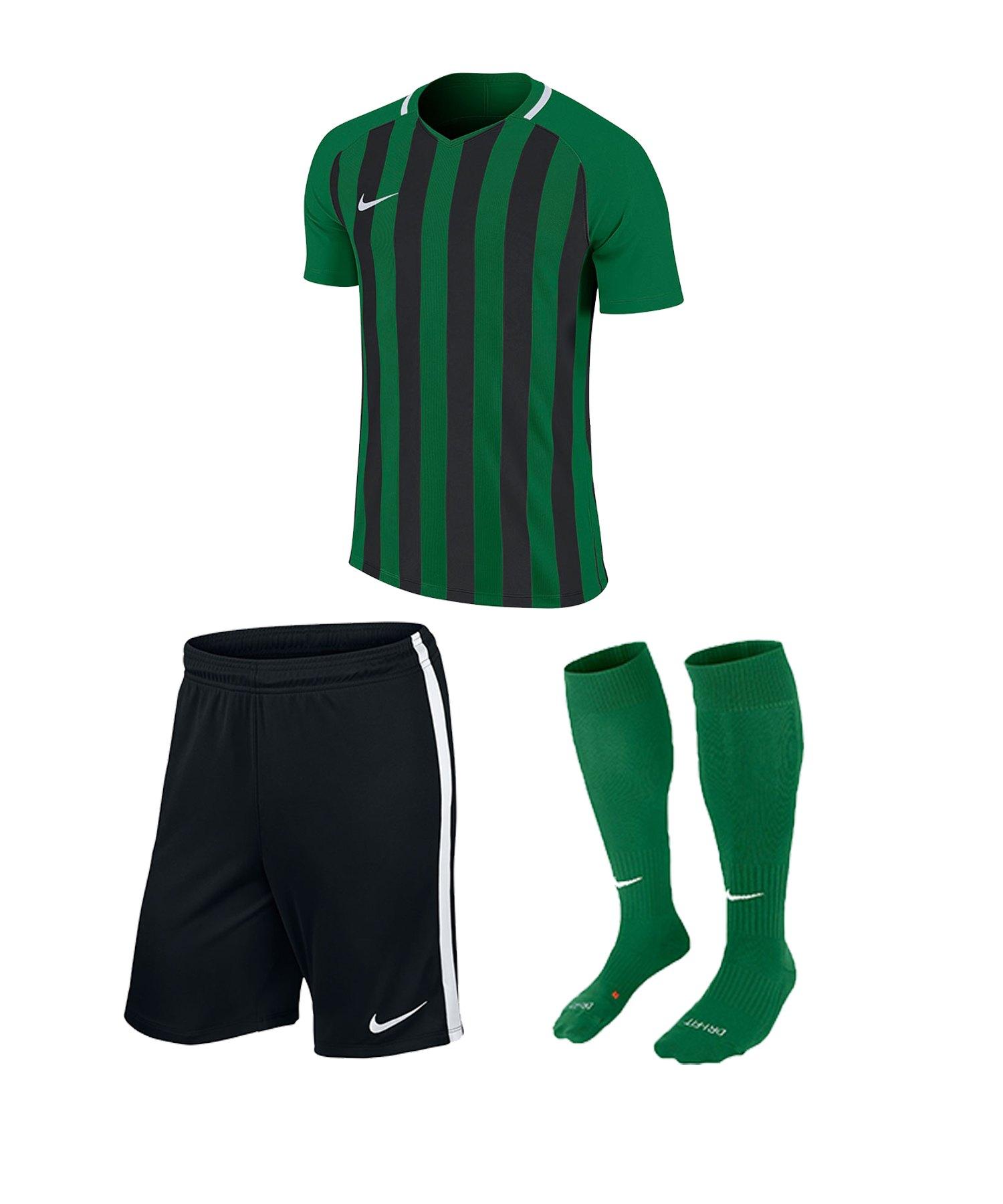 Nike Striped Division III Trikotset kurz Kids F302 - gruen